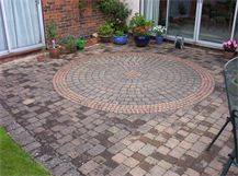 Block paving cleaning service - before