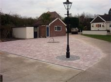 Block paving driveway from Cambridge paving and patios - before