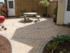 Block paving circle from Cambridge paving and patios - after