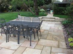 Natural stone paving - after